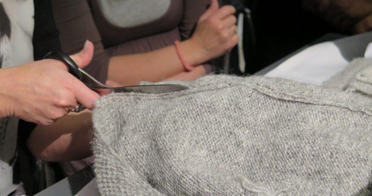 Steeking – en sweater bliver til en cardigan
