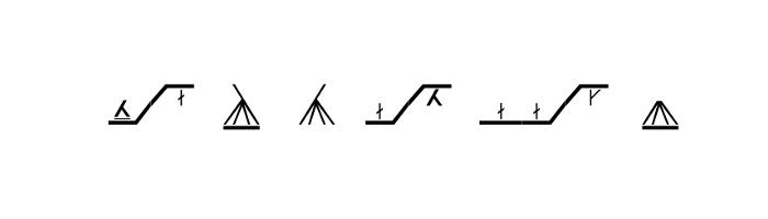 Skrifttyper / fonts / strikkesymboler
